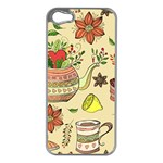 Colored Afternoon Tea Pattern Apple iPhone 5 Case (Silver)
