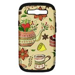 Colored Afternoon Tea Pattern Samsung Galaxy S III Hardshell Case (PC+Silicone)