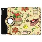 Colored Afternoon Tea Pattern Apple iPad Mini Flip 360 Case
