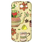 Colored Afternoon Tea Pattern Samsung Galaxy S3 S III Classic Hardshell Back Case
