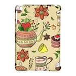 Colored Afternoon Tea Pattern Apple iPad Mini Hardshell Case (Compatible with Smart Cover)