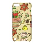 Colored Afternoon Tea Pattern Apple iPod Touch 5 Hardshell Case with Stand
