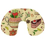 Colored Afternoon Tea Pattern Travel Neck Pillows