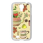 Colored Afternoon Tea Pattern Samsung GALAXY S4 I9500/ I9505 Case (White)