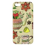 Colored Afternoon Tea Pattern iPhone 5S/ SE Premium Hardshell Case