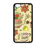 Colored Afternoon Tea Pattern Apple iPhone 5C Seamless Case (Black)