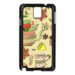 Colored Afternoon Tea Pattern Samsung Galaxy Note 3 N9005 Case (Black)
