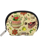 Colored Afternoon Tea Pattern Accessory Pouches (Small)