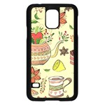 Colored Afternoon Tea Pattern Samsung Galaxy S5 Case (Black)