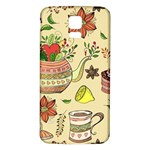 Colored Afternoon Tea Pattern Samsung Galaxy S5 Back Case (White)
