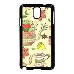 Colored Afternoon Tea Pattern Samsung Galaxy Note 3 Neo Hardshell Case (Black)