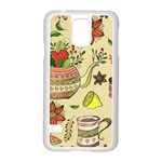 Colored Afternoon Tea Pattern Samsung Galaxy S5 Case (White)