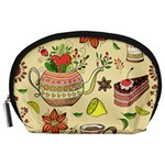 Colored Afternoon Tea Pattern Accessory Pouches (Large)