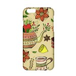 Colored Afternoon Tea Pattern Apple iPhone 6/6S Hardshell Case