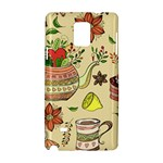 Colored Afternoon Tea Pattern Samsung Galaxy Note 4 Hardshell Case