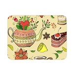 Colored Afternoon Tea Pattern Double Sided Flano Blanket (Mini)
