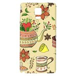 Colored Afternoon Tea Pattern Galaxy Note 4 Back Case
