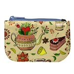 Colored Afternoon Tea Pattern Large Coin Purse