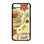 Colored Afternoon Tea Pattern Apple iPhone 7 Plus Seamless Case (Black)
