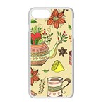 Colored Afternoon Tea Pattern Apple iPhone 7 Plus Seamless Case (White)