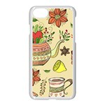 Colored Afternoon Tea Pattern Apple iPhone 7 Seamless Case (White)
