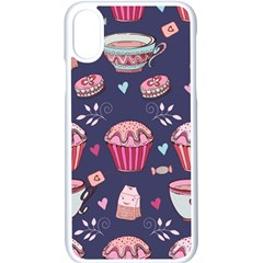 Afternoon Tea And Sweets Apple Iphone X Seamless Case (white) by allthingseveryday