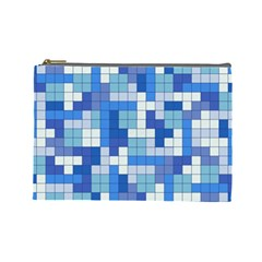Tetris Camouflage Marine Cosmetic Bag (large)  by jumpercat