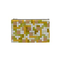 Tetris Camouflage Desert Cosmetic Bag (small)  by jumpercat
