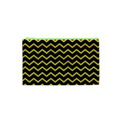 Yellow Chevron Cosmetic Bag (xs) by jumpercat