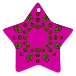 Sweet Hearts In  Decorative Metal Tinsel Ornament (Star)