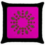 Sweet Hearts In  Decorative Metal Tinsel Throw Pillow Case (Black)