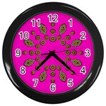 Sweet Hearts In  Decorative Metal Tinsel Wall Clocks (Black)