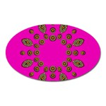 Sweet Hearts In  Decorative Metal Tinsel Oval Magnet