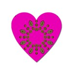 Sweet Hearts In  Decorative Metal Tinsel Heart Magnet