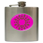Sweet Hearts In  Decorative Metal Tinsel Hip Flask (6 oz)