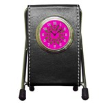 Sweet Hearts In  Decorative Metal Tinsel Pen Holder Desk Clocks