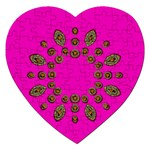 Sweet Hearts In  Decorative Metal Tinsel Jigsaw Puzzle (Heart)