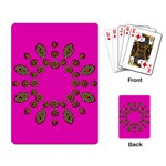 Sweet Hearts In  Decorative Metal Tinsel Playing Card