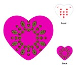 Sweet Hearts In  Decorative Metal Tinsel Playing Cards (Heart)