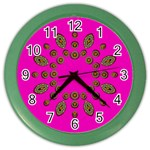 Sweet Hearts In  Decorative Metal Tinsel Color Wall Clocks