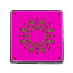 Sweet Hearts In  Decorative Metal Tinsel Memory Card Reader (Square)