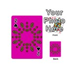 Sweet Hearts In  Decorative Metal Tinsel Playing Cards 54 (Mini)