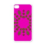 Sweet Hearts In  Decorative Metal Tinsel Apple iPhone 4 Case (White)