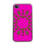 Sweet Hearts In  Decorative Metal Tinsel Apple iPhone 4 Case (Clear)