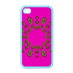 Sweet Hearts In  Decorative Metal Tinsel Apple iPhone 4 Case (Color)