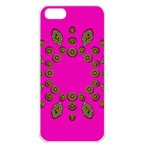 Sweet Hearts In  Decorative Metal Tinsel Apple iPhone 5 Seamless Case (White)
