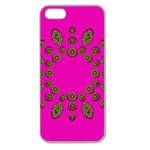 Sweet Hearts In  Decorative Metal Tinsel Apple Seamless iPhone 5 Case (Clear)