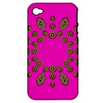 Sweet Hearts In  Decorative Metal Tinsel Apple iPhone 4/4S Hardshell Case (PC+Silicone)