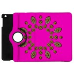 Sweet Hearts In  Decorative Metal Tinsel Apple iPad Mini Flip 360 Case