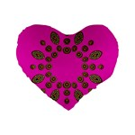 Sweet Hearts In  Decorative Metal Tinsel Standard 16  Premium Heart Shape Cushions